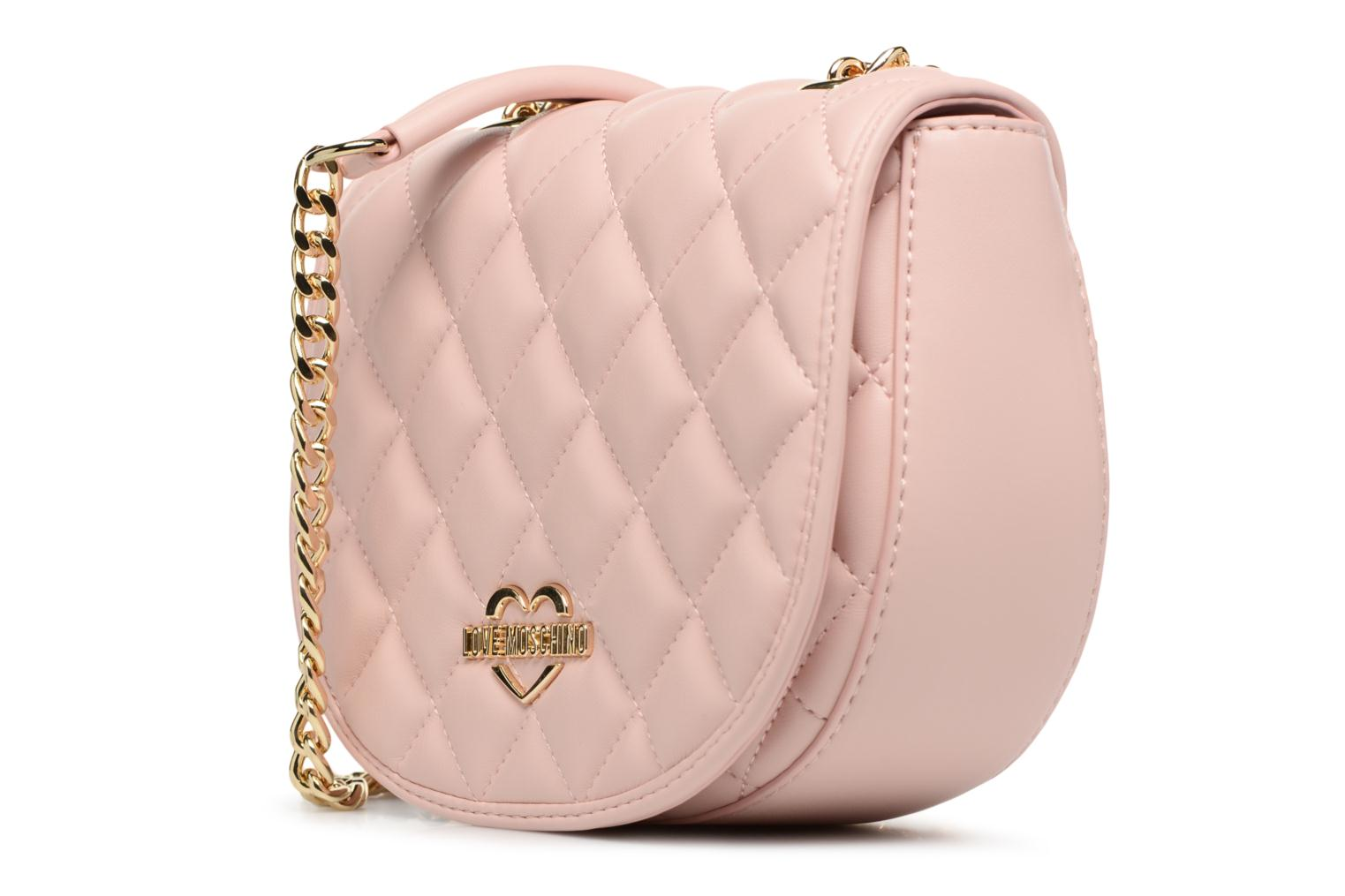 Sacs à main Love Moschino Crossbody Super Quilted Rose vue portées chaussures