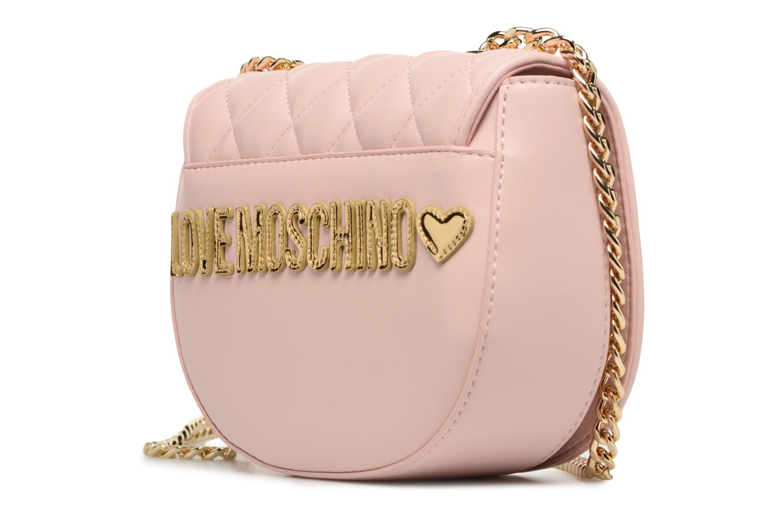 Sacs à main Love Moschino Crossbody Super Quilted Rose vue droite