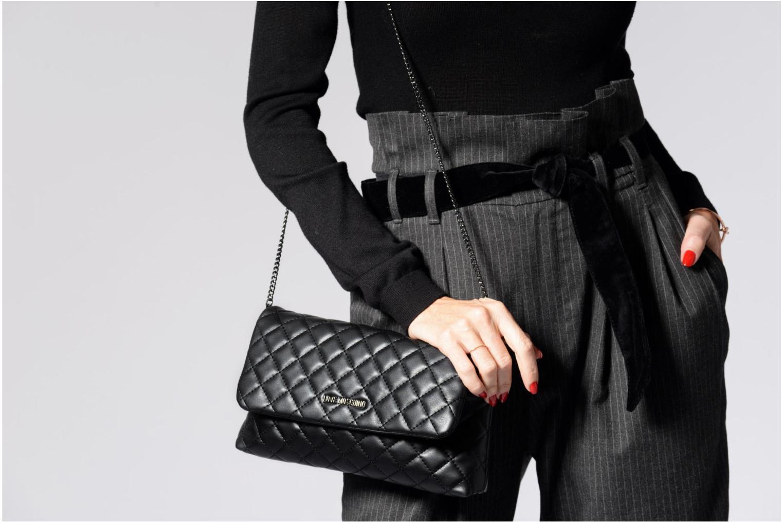 Sacs à main Love Moschino Evening Bag Chaine Quilted Noir vue haut