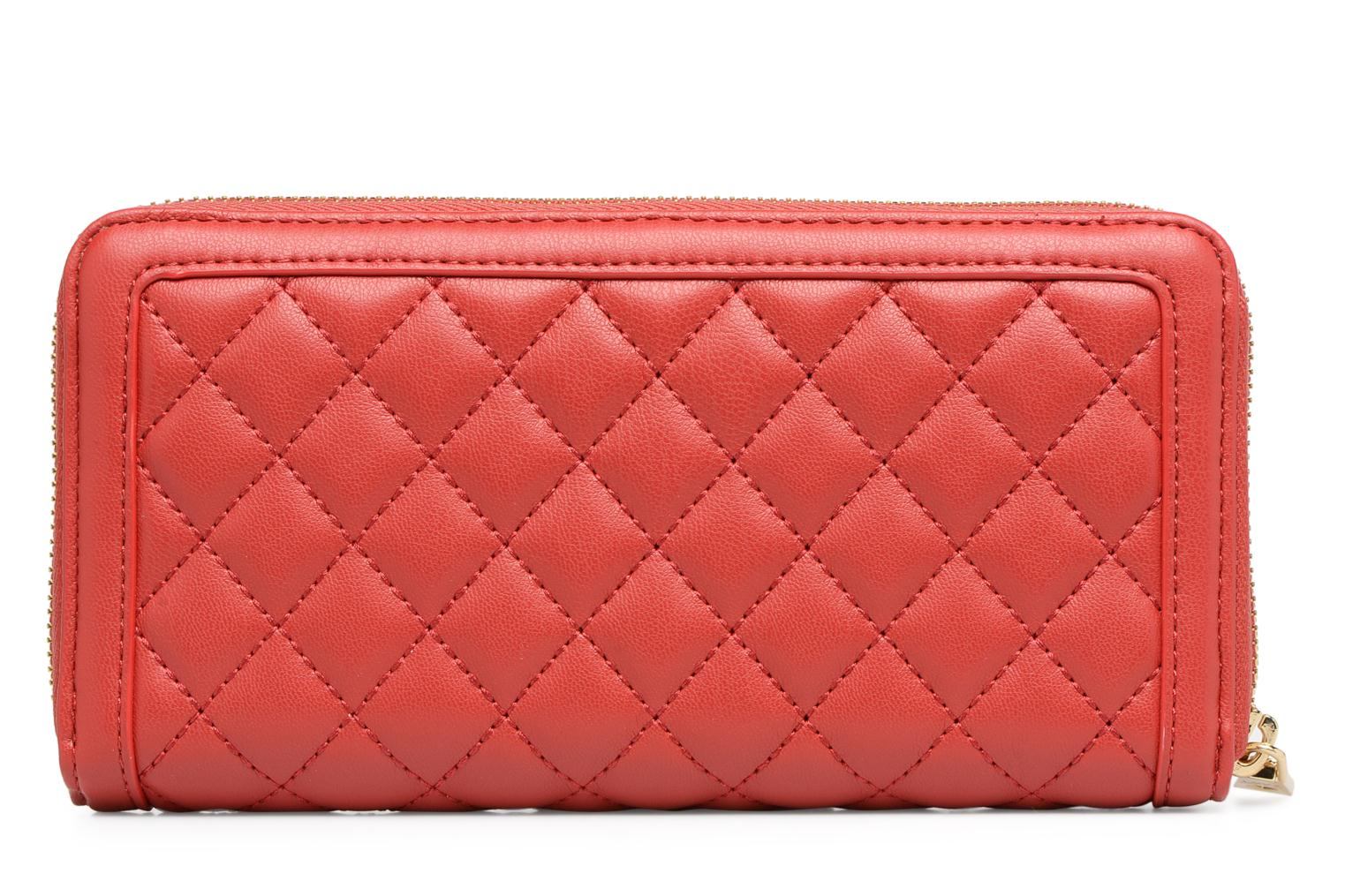 Pelletteria Love Moschino Portefeuille Super Quilted Rosso immagine frontale