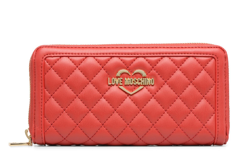 Pelletteria Love Moschino Portefeuille Super Quilted Rosso vedi dettaglio/paio