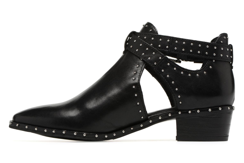 Bottines et boots Bronx BTEX-CHUNKY Noir vue face