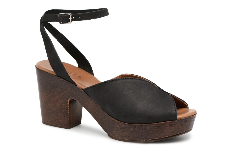 Zapatos promocionales Pieces Mika nubuck sandal (Negro) - Sandalias   Gran descuento