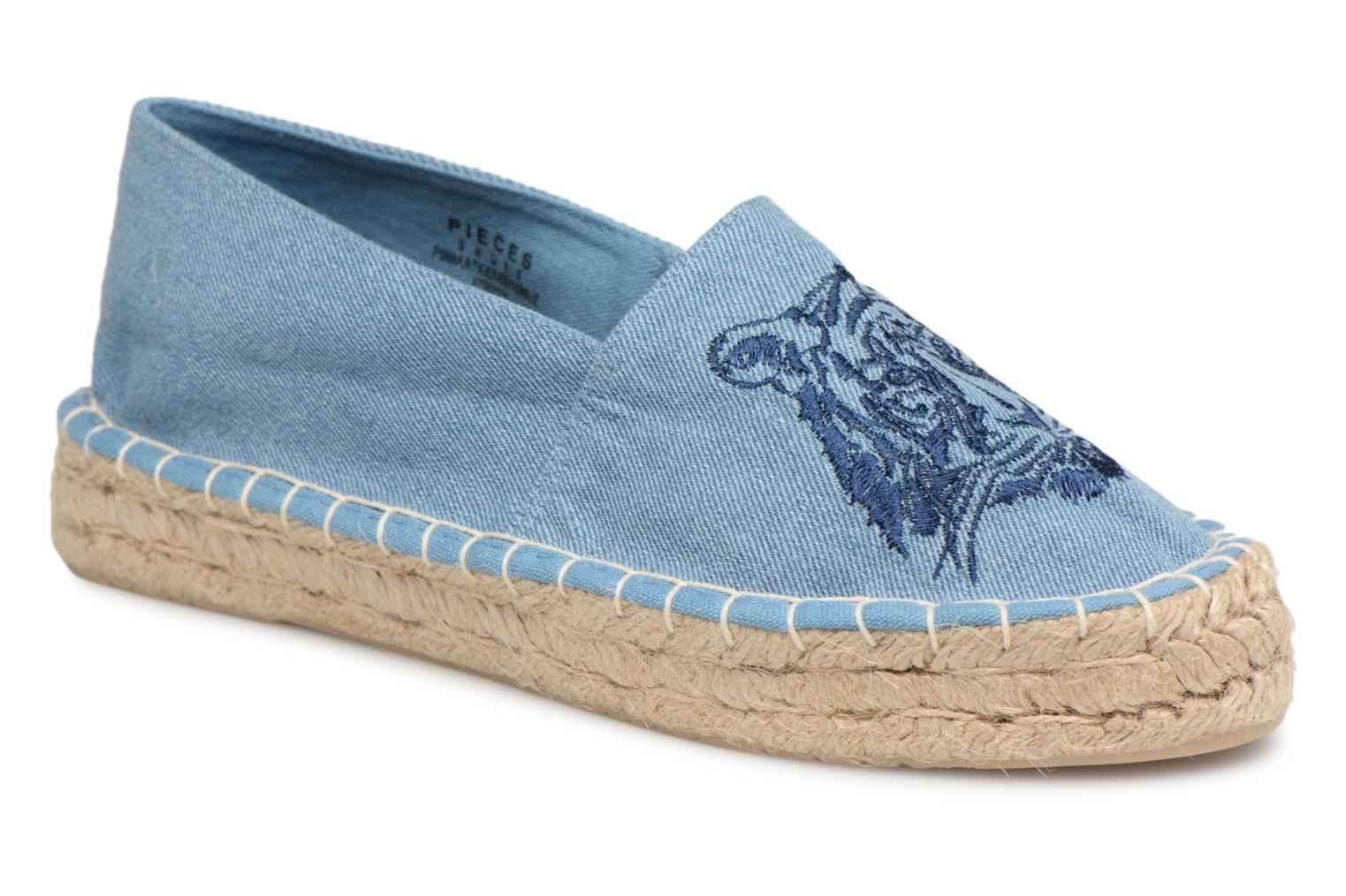 Marques Chaussure femme Pieces femme Haila tiger espadrille Light blue