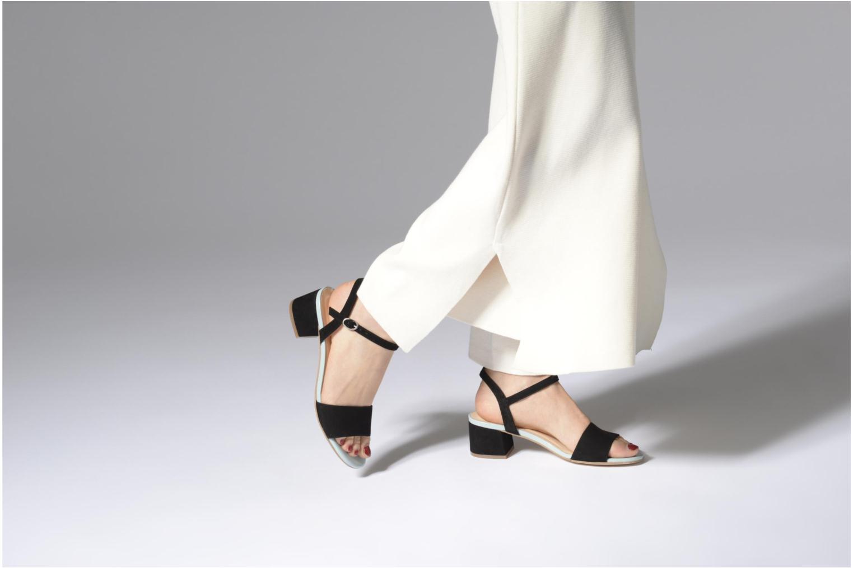 Sandales et nu-pieds Mellow Yellow Dovy Noir vue bas / vue portée sac