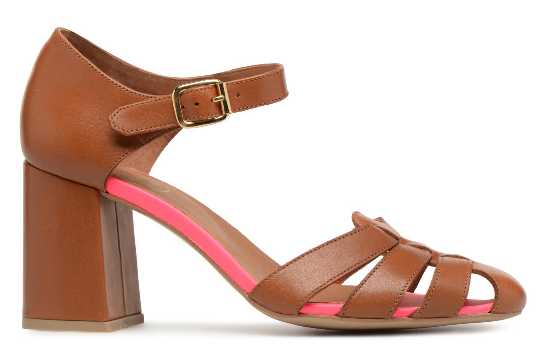 Marques Chaussure femme Made by SARENZA femme 90's Girls Gang Sandales à Talons #5 Cuir Lisse Cognac / Rose Fluo