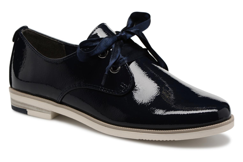 Chaussures à lacets Marco Tozzi Horio Bleu vue détail/paire
