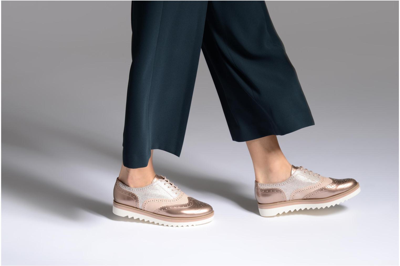 Chaussures à lacets Marco Tozzi Fomil Rose vue bas / vue portée sac