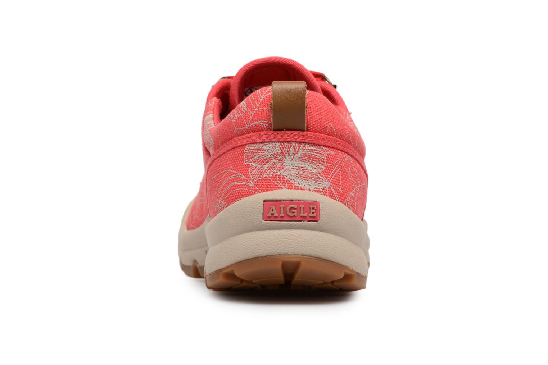 Chaussures de sport Aigle Tenere Light Low W CVS Print Rose vue droite