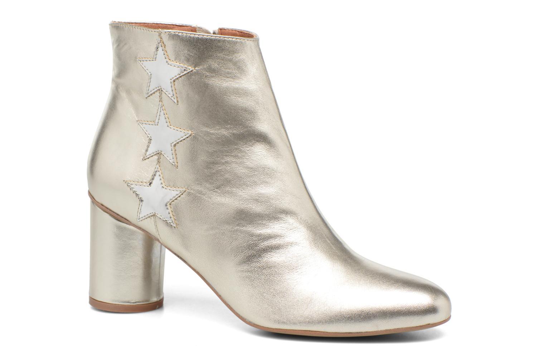 90's Girls Gang Boots #5 Cuir métalisé argent