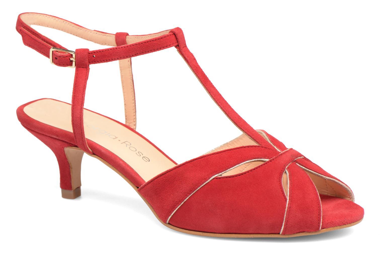 Sandales et nu-pieds Georgia Rose Etcera Rouge vue détail/paire