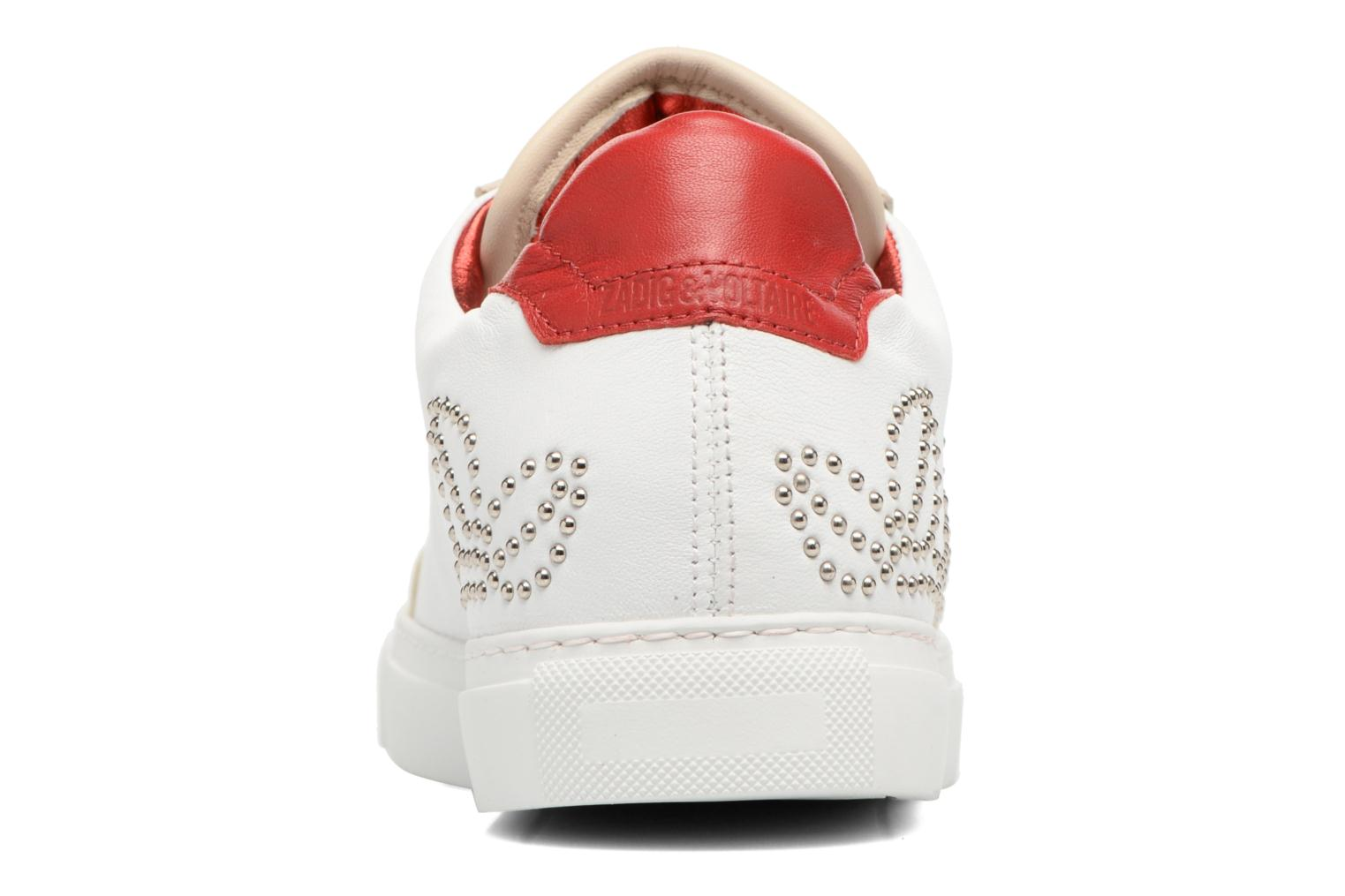 Trainers Zadig & Voltaire ROSE White view from the right