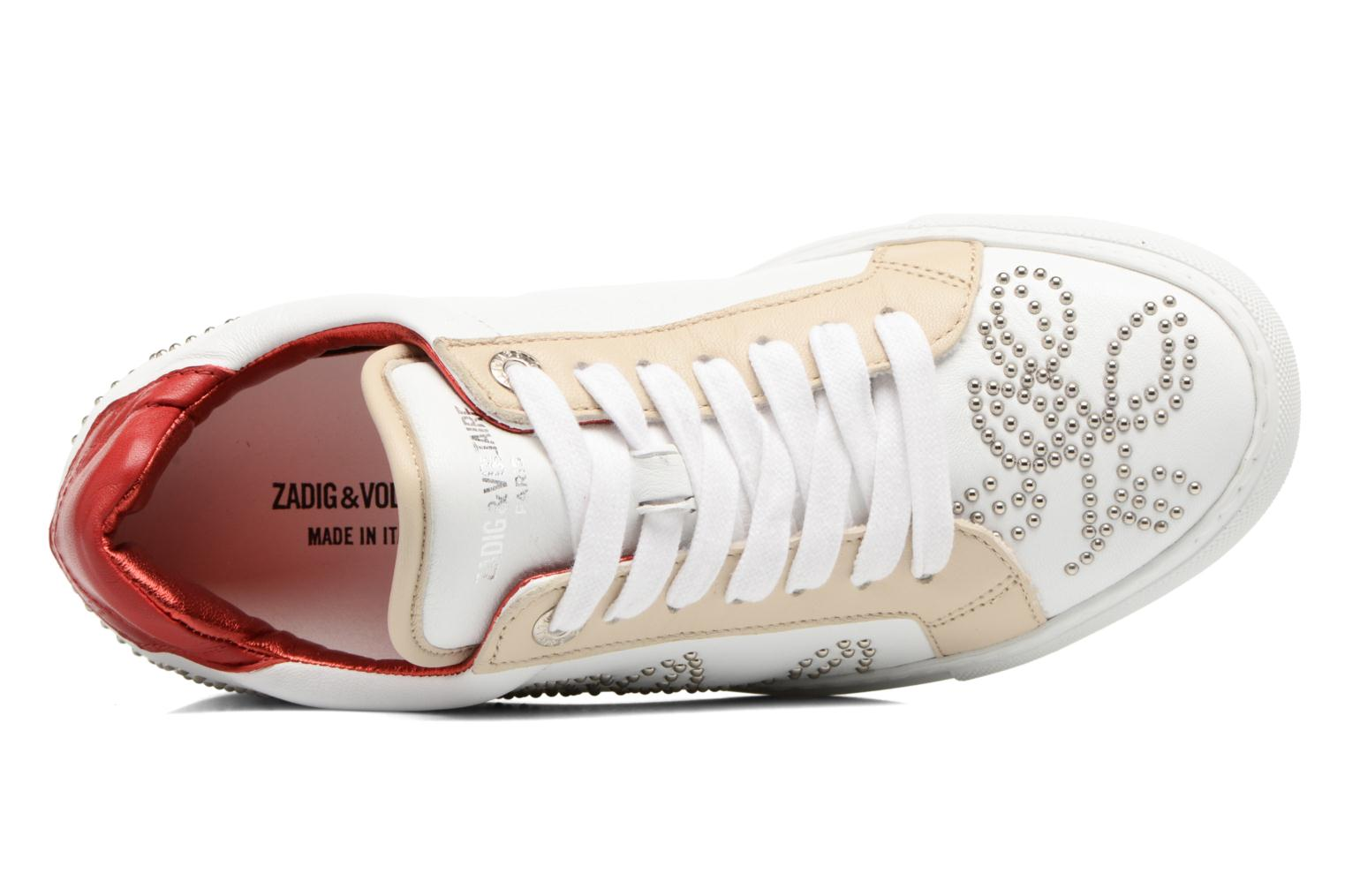 Trainers Zadig & Voltaire ROSE White view from the left