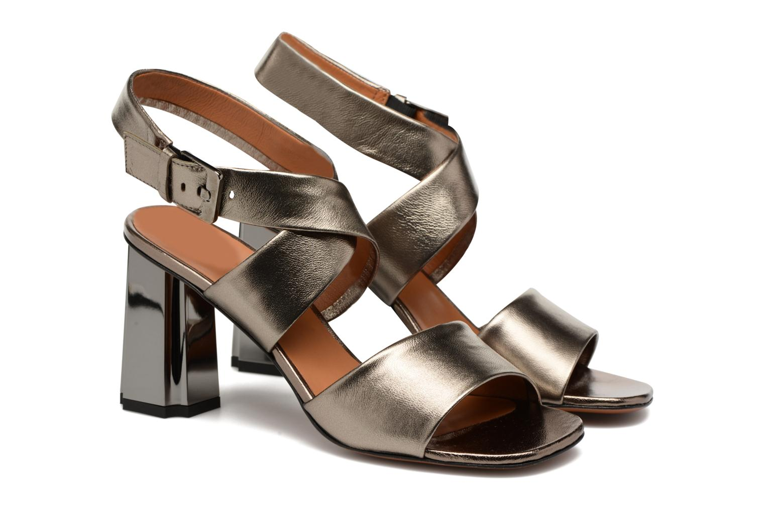 Sandals Clergerie ZORA Bronze and Gold 3/4 view