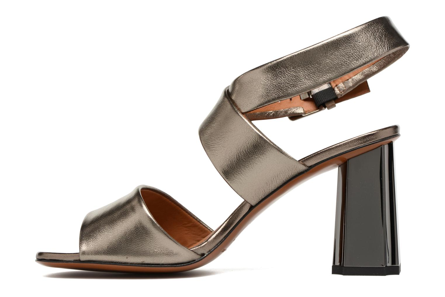 Sandals Clergerie ZORA Bronze and Gold front view