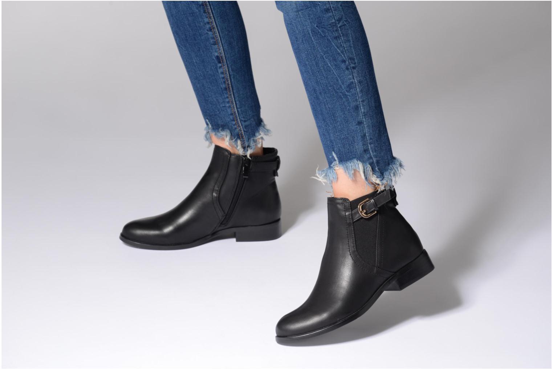 Bottines et boots Buffalo Lèv Boots Noir vue bas / vue portée sac