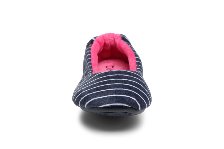 Chaussons Dim D Bowel Bleu vue portées chaussures