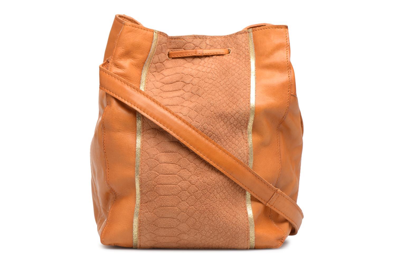 Sacs à main Pieces Imi Leather Tighten Bag Marron vue face