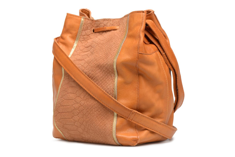 Sacs à main Pieces Imi Leather Tighten Bag Marron vue droite