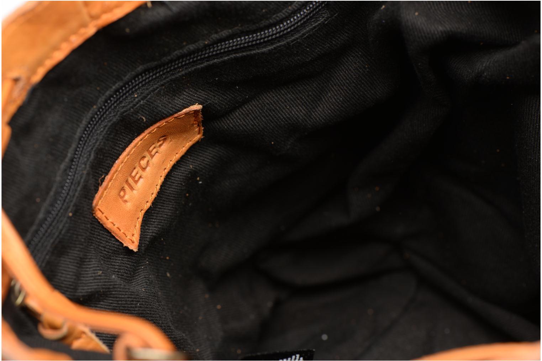 Sacs à main Pieces Imi Leather Tighten Bag Marron vue derrière