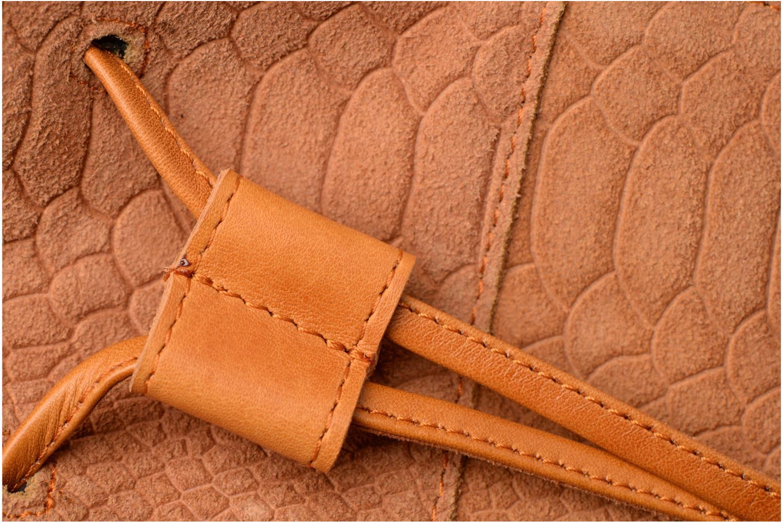 Sacs à main Pieces Imi Leather Tighten Bag Marron vue gauche