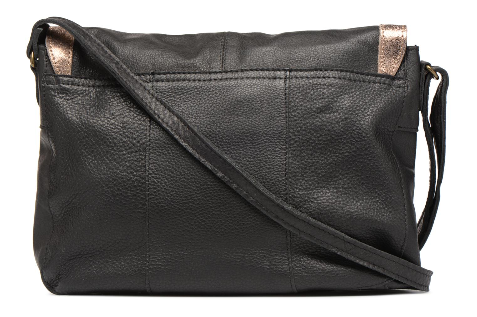 Sacs à main Pieces Isaura Leather Crossbody L Noir vue face