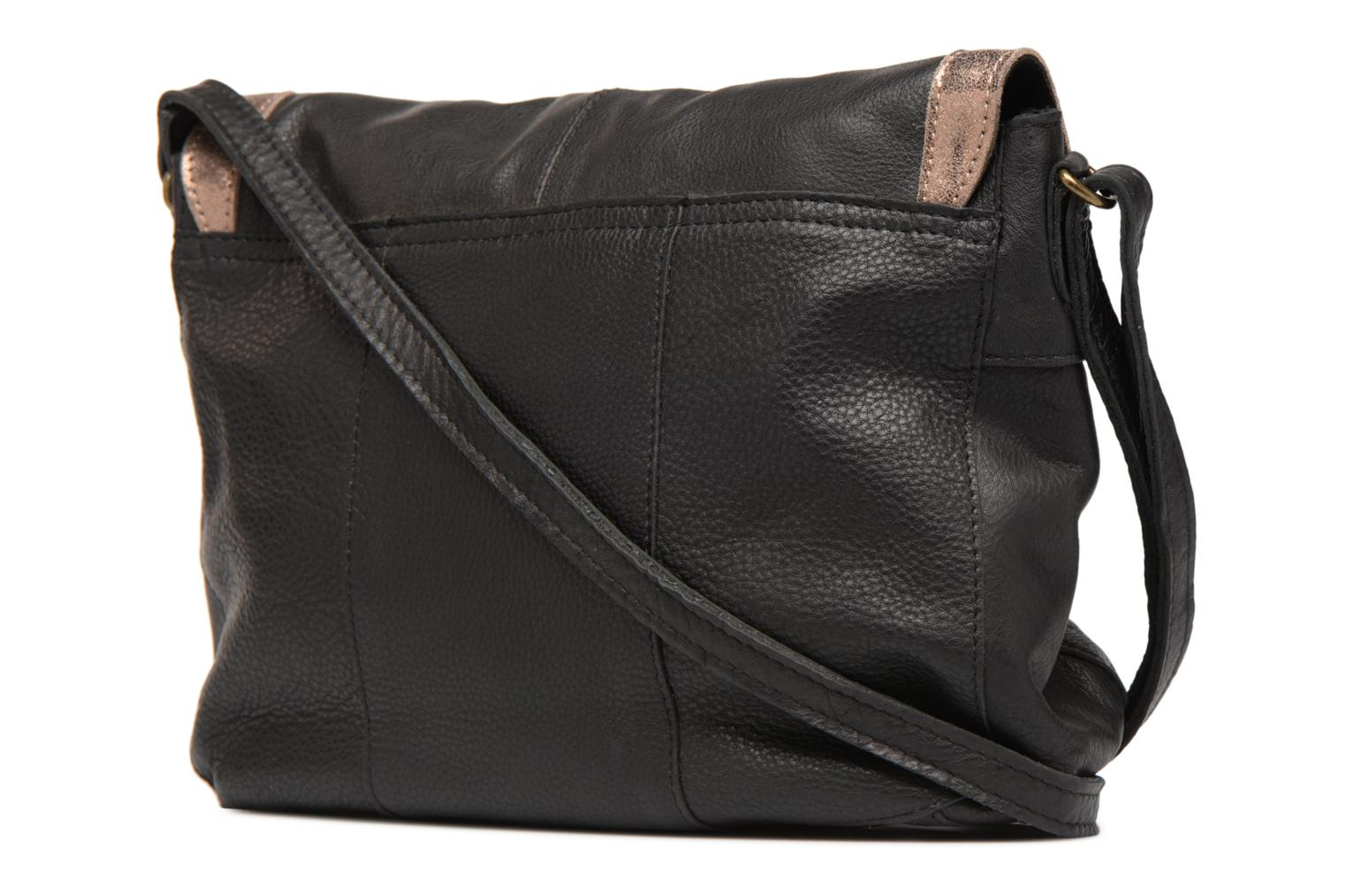 Sacs à main Pieces Isaura Leather Crossbody L Noir vue droite
