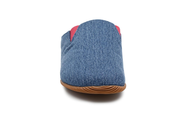 Chaussons Giesswein Pama Bleu vue portées chaussures