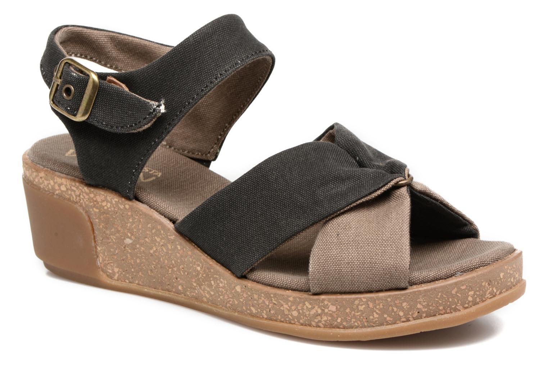 Grandes descuentos últimos zapatos El Naturalista Leaves N5007T (Negro) - Sandalias Descuento