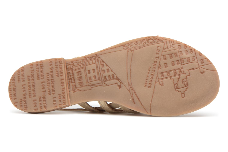 Sandales et nu-pieds Les Tropéziennes par M Belarbi Hariette Beige vue haut