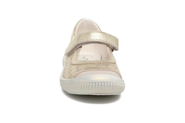 Ballerines Bopy Soleil Or et bronze vue portées chaussures