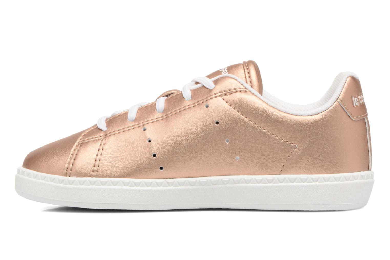 Trainers Le Coq Sportif Courtone Inf Metallic Bronze and Gold front view