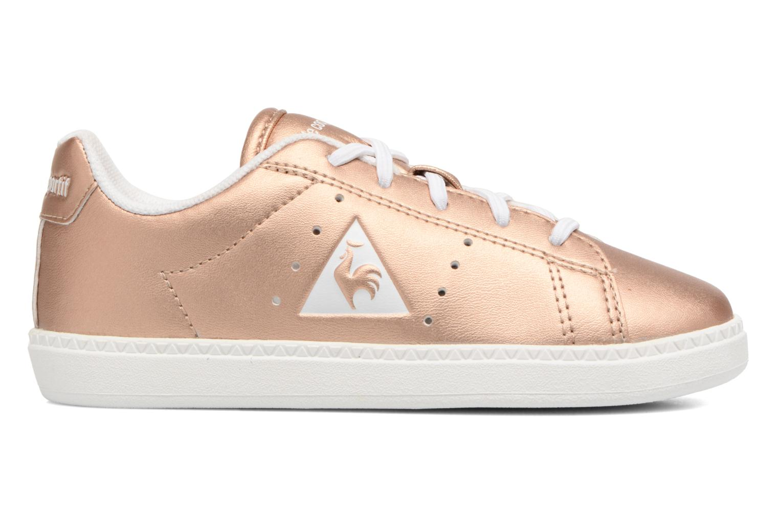 Trainers Le Coq Sportif Courtone Inf Metallic Bronze and Gold back view