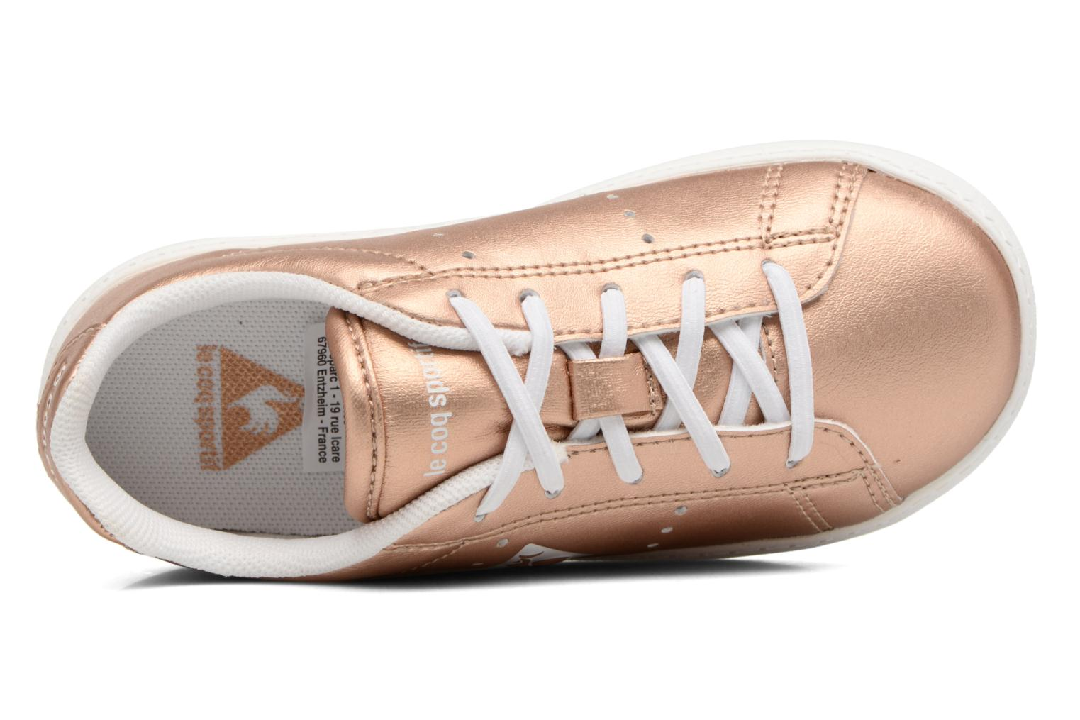 Trainers Le Coq Sportif Courtone Inf Metallic Bronze and Gold view from the left