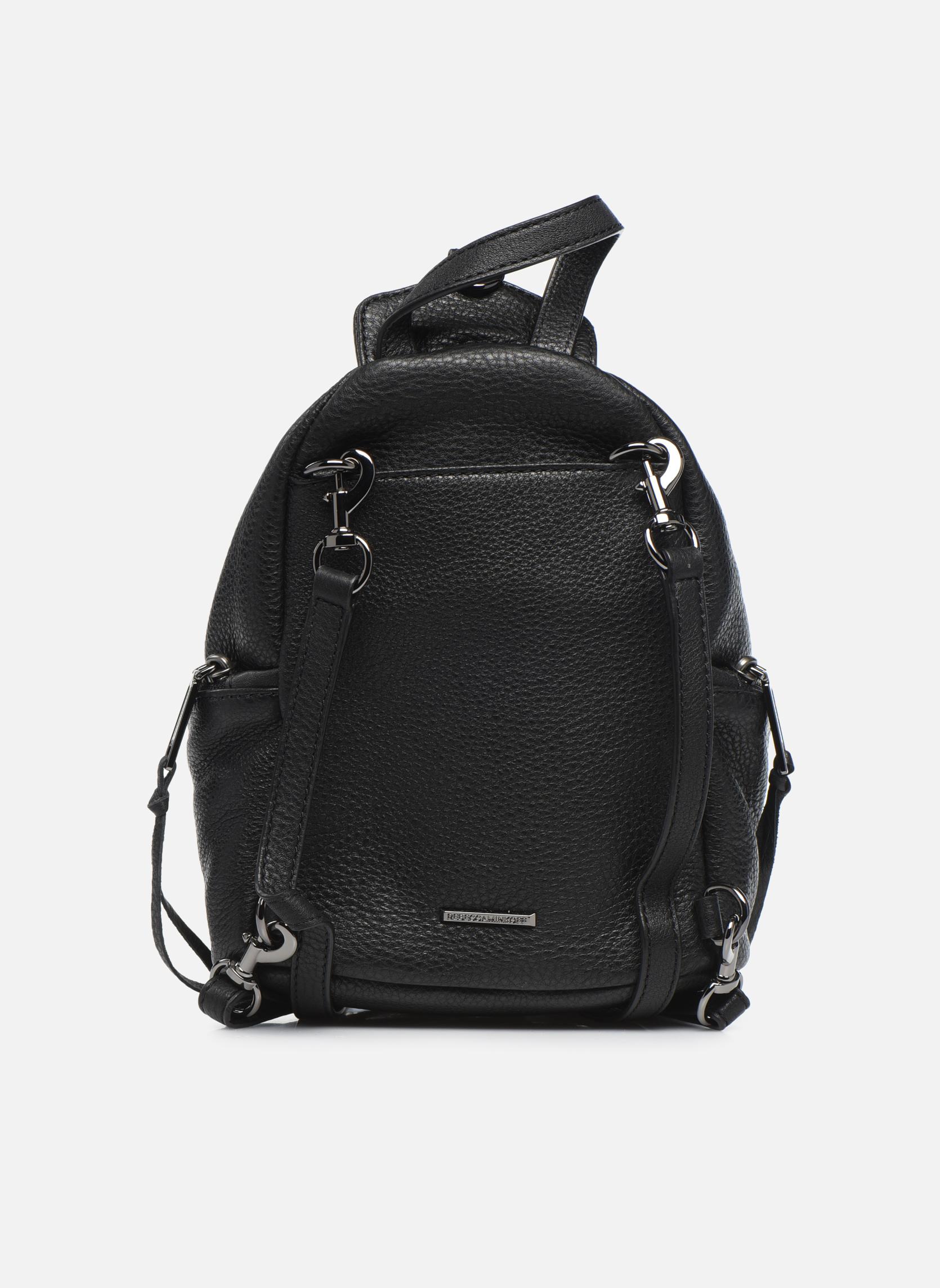 Rugzakken Rebecca Minkoff Convertible Mini Julian Backpack Zwart voorkant