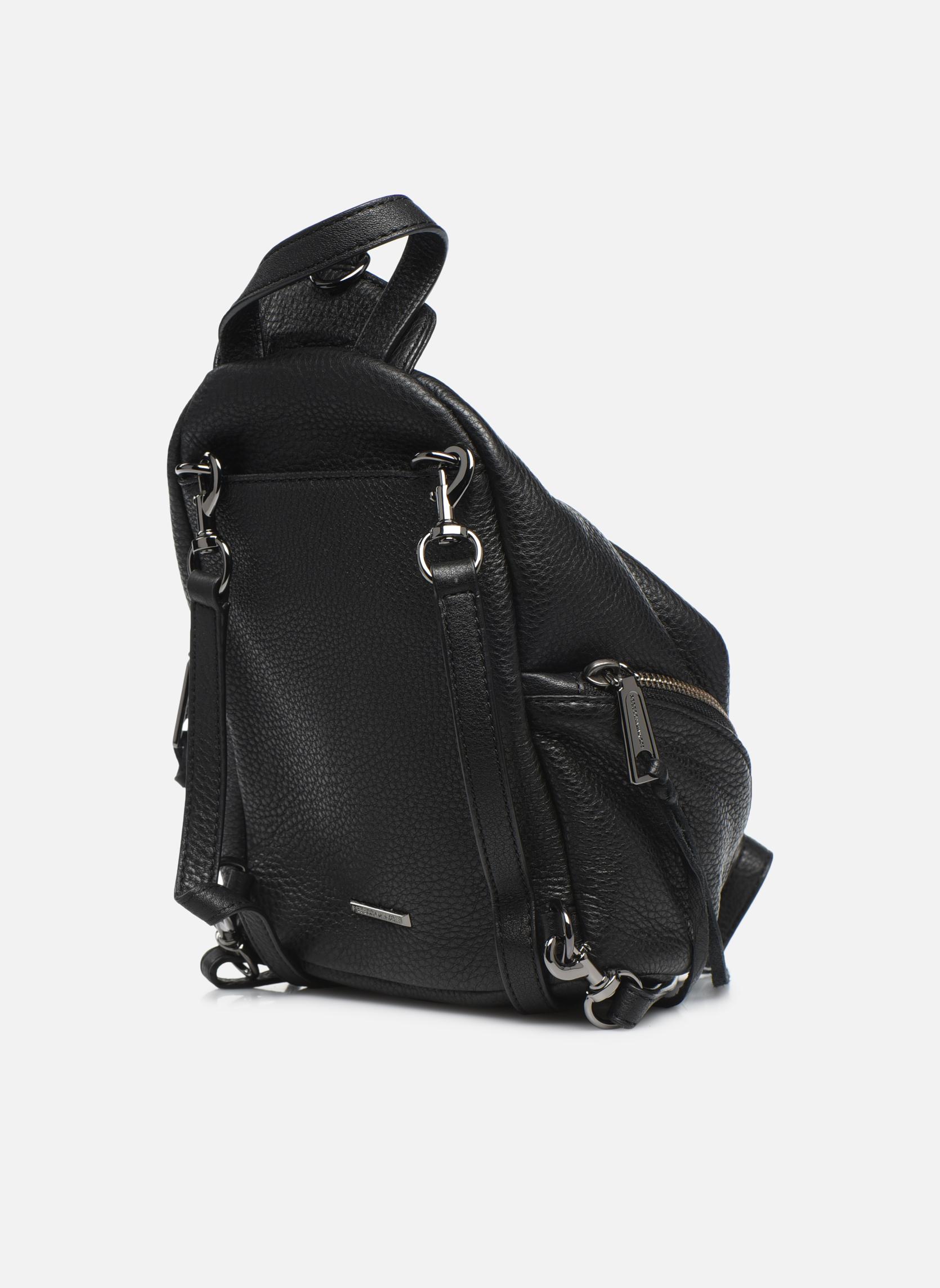 Rugzakken Rebecca Minkoff Convertible Mini Julian Backpack Zwart rechts