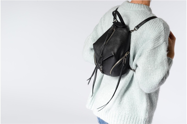 Rugzakken Rebecca Minkoff Convertible Mini Julian Backpack Zwart boven