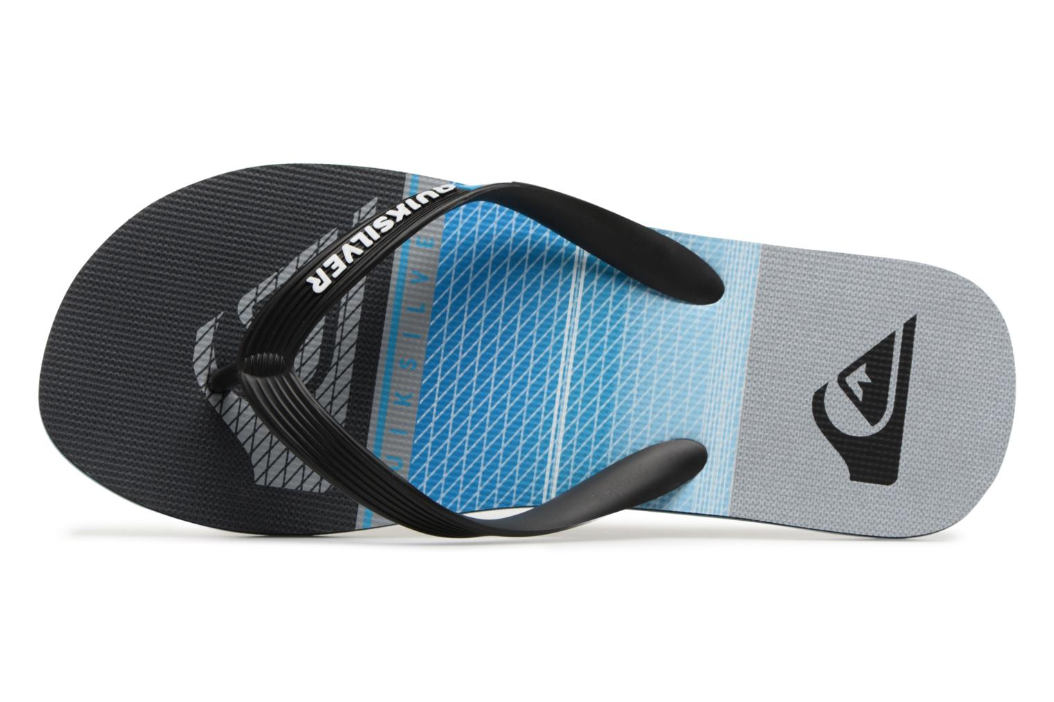 Flip flops Quiksilver Molokai Highline Slab Blue view from the left