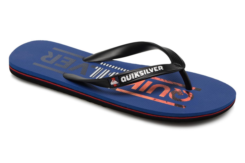 Flip flops Quiksilver Molokai Wordmark Blue detailed view/ Pair view