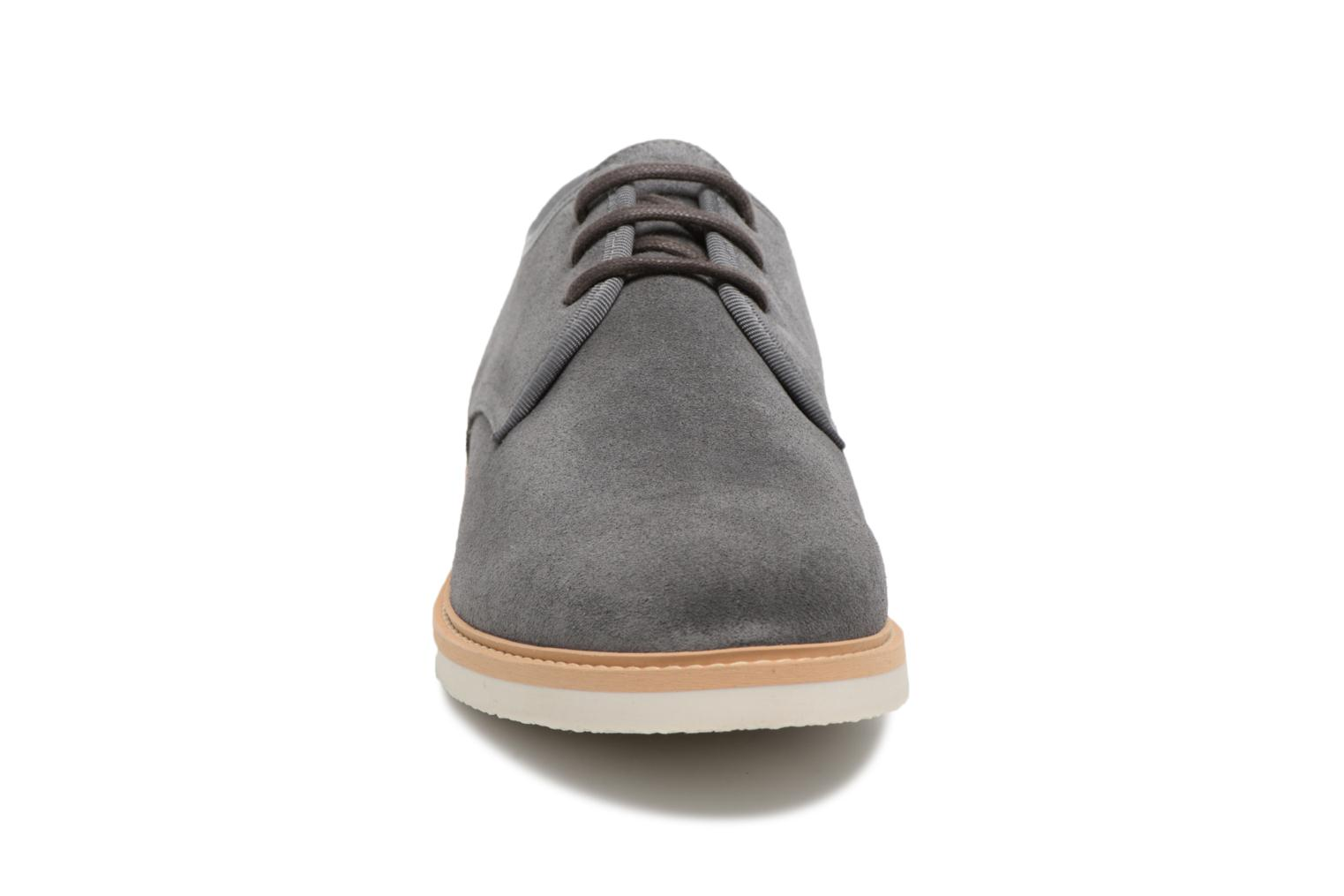 Lace-up shoes Schmoove Fly Derby Suede Grey model view