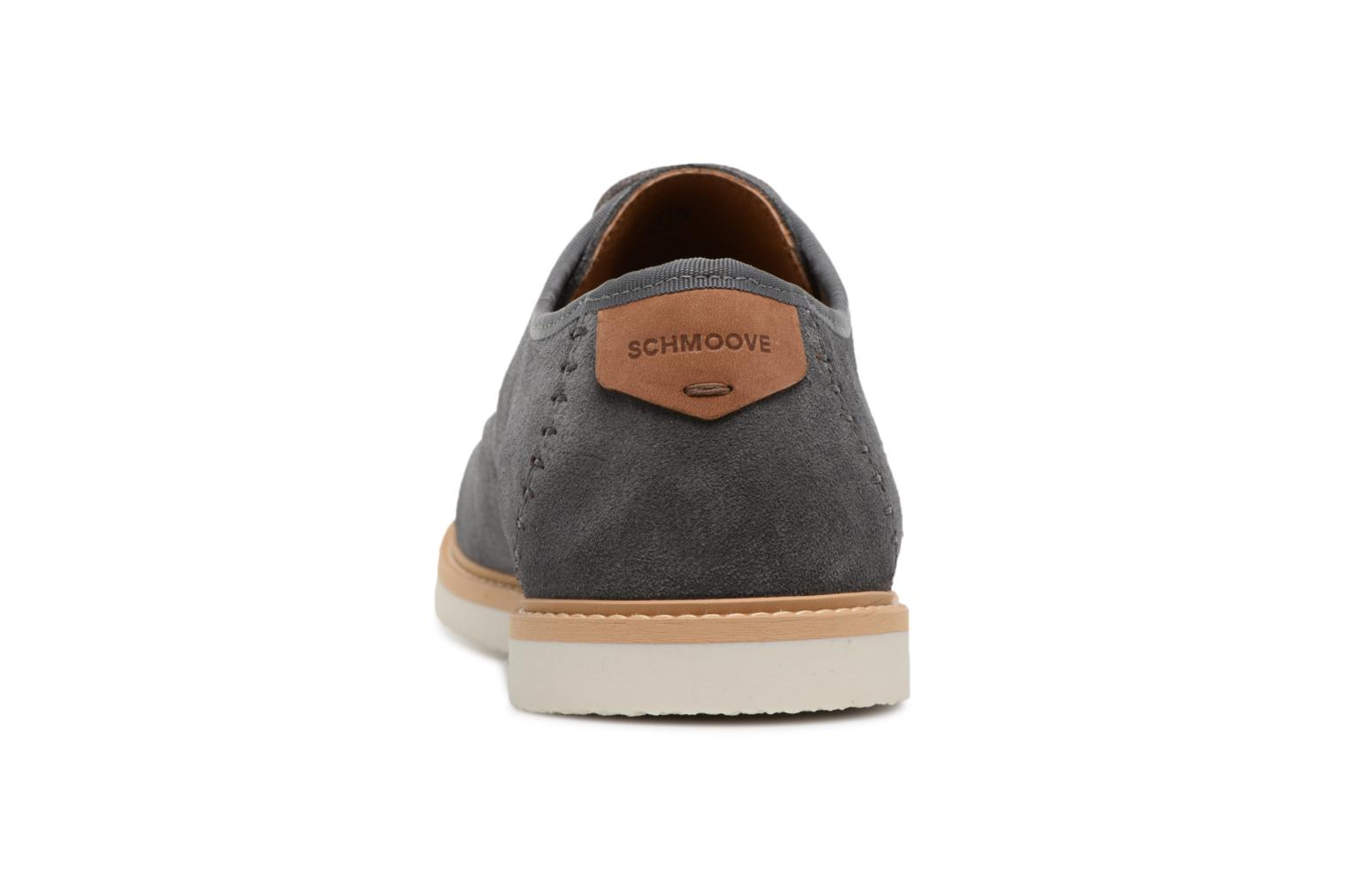 Lace-up shoes Schmoove Fly Derby Suede Grey view from the right