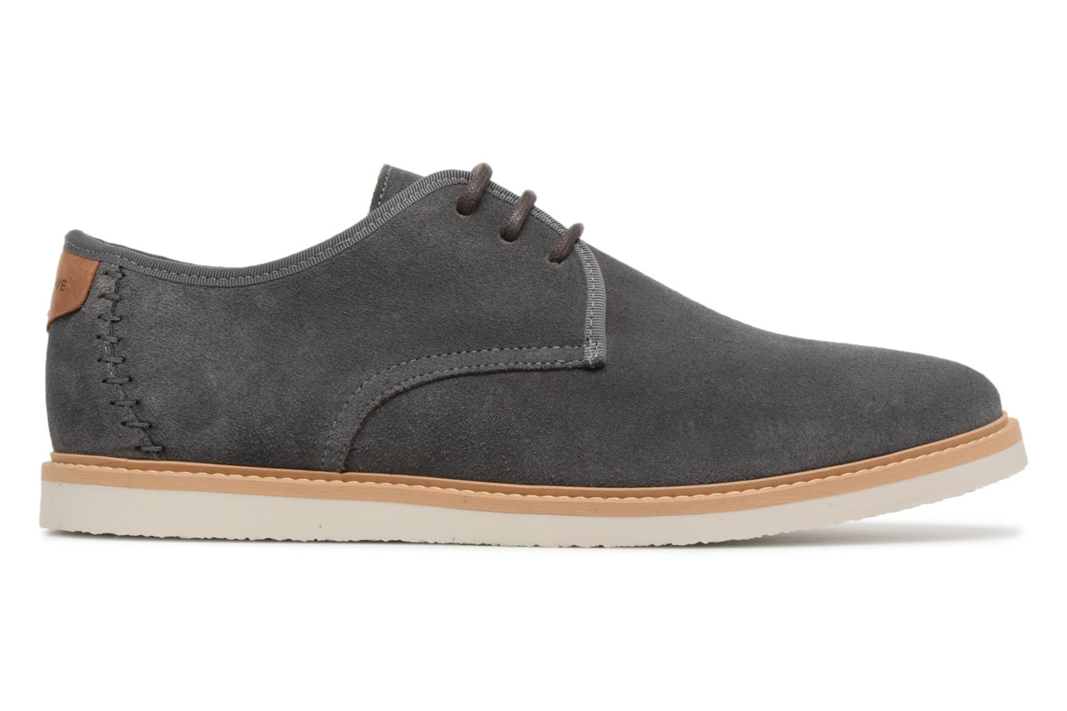 Lace-up shoes Schmoove Fly Derby Suede Grey back view