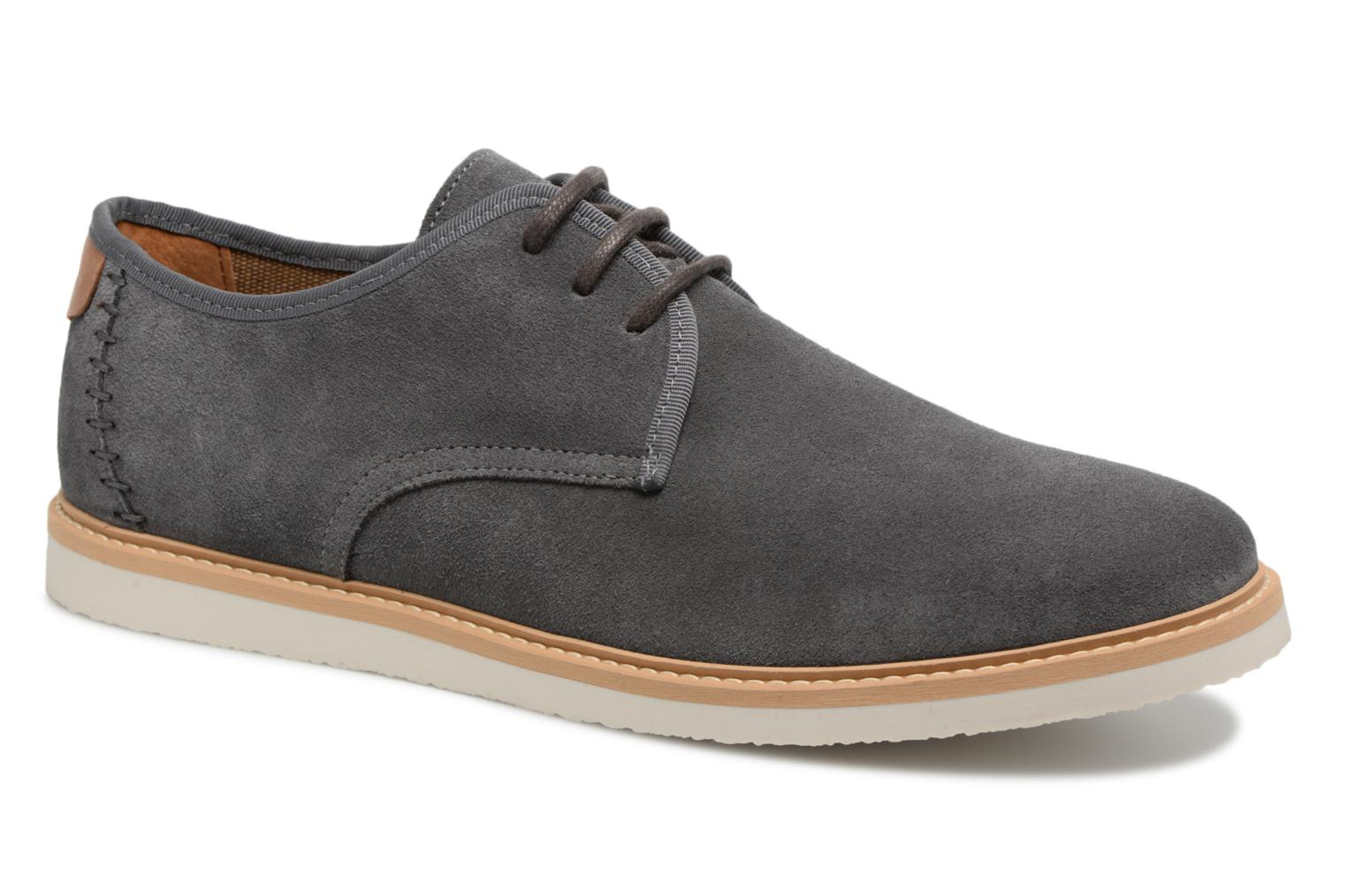 Lace-up shoes Schmoove Fly Derby Suede Grey detailed view/ Pair view