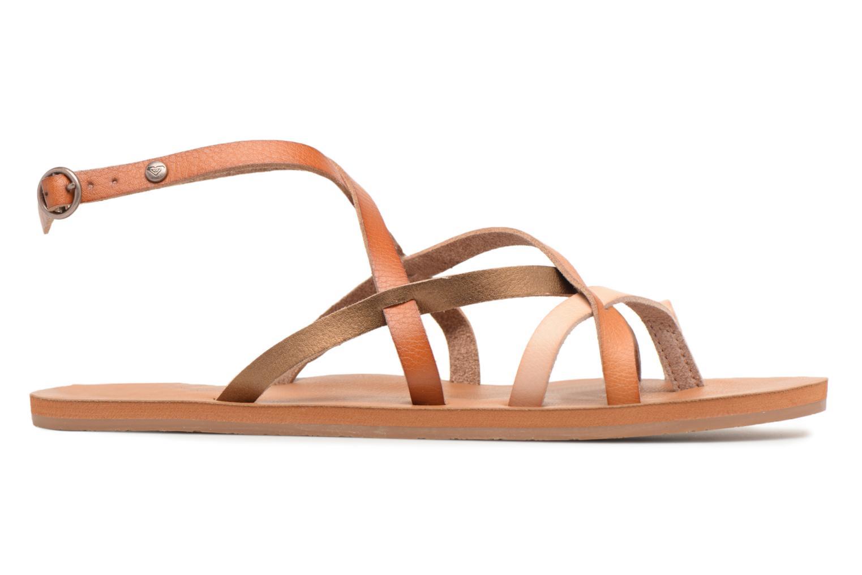 Sandales et nu-pieds Roxy Julia Marron vue derrière
