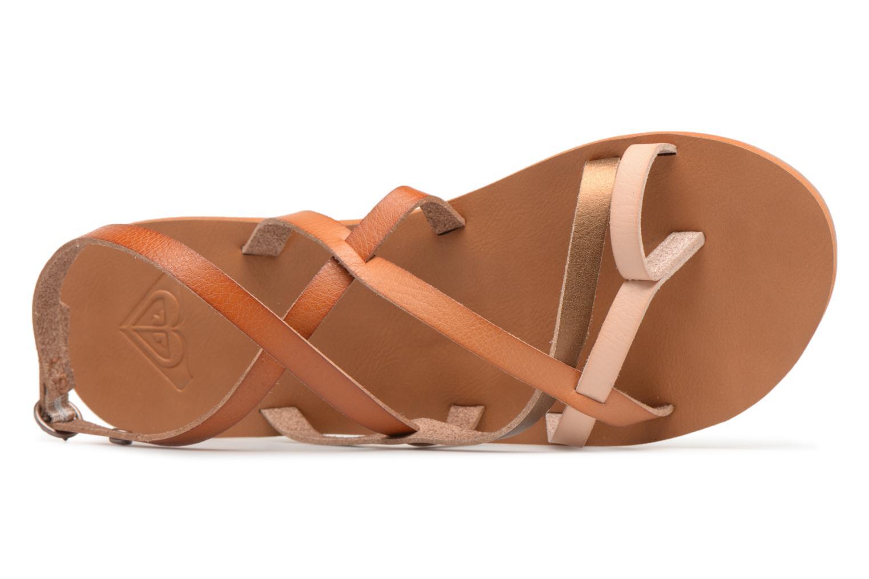 Sandales et nu-pieds Roxy Julia Marron vue gauche