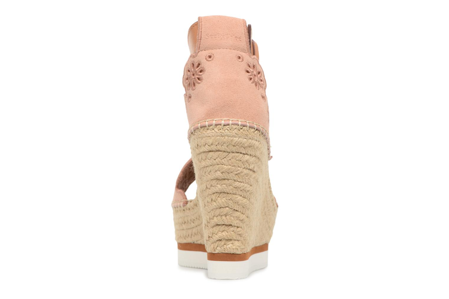 Espadrilles See by Chloé Glyn Rose vue droite