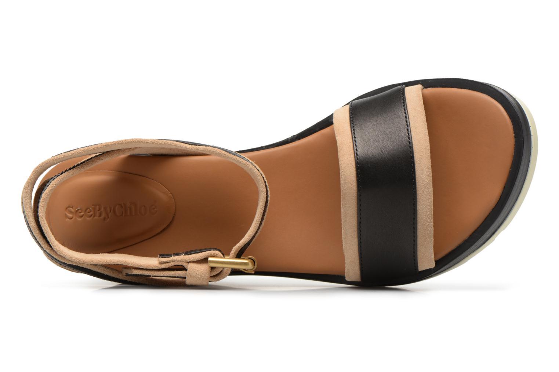 Sandales et nu-pieds See by Chloé Robin 2 Noir vue gauche