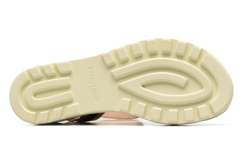 Sandales et nu-pieds See by Chloé Robin 2 Noir vue haut