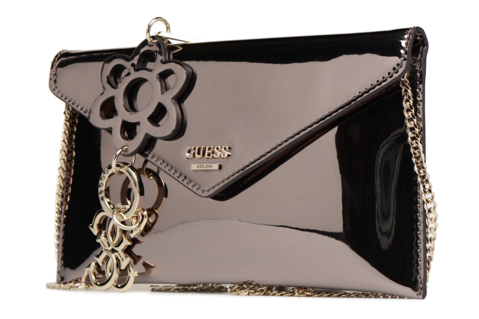 Handtassen Guess Spring Fling Crossbody Clutch Zilver model