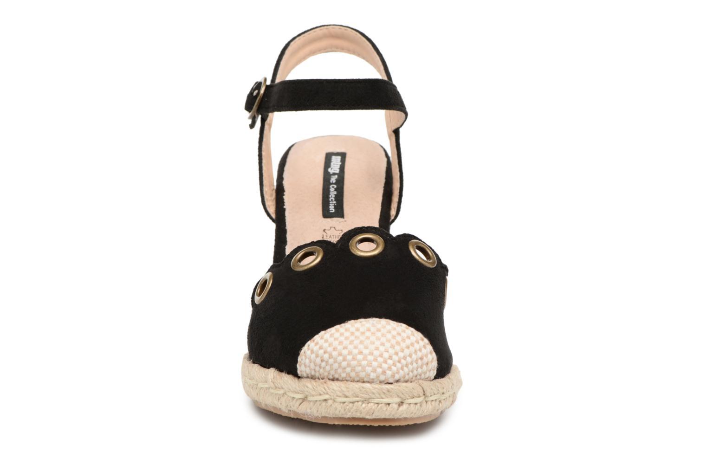 Espadrilles MTNG Palm Noir vue portées chaussures